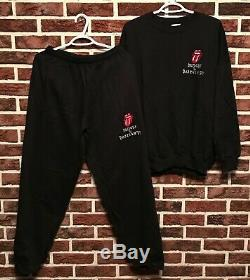 Vtg Rolling Stones Tour Bridges To Babylon Pantalons Sweat Shirt Costume (l) Og Nos