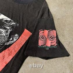 Vtg The Rolling Stones Tattoo You 1989 Tour T-shirt 80s Mick Jagger Moyen Faded
