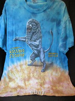 Vtg90sthe Rolling Stones 1997-98 Bridges To Babylonconcert/tourt-shirt Orig